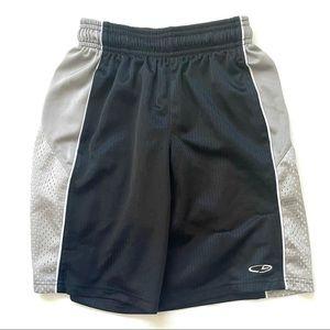 🎯3/$10 Champion Black Grey Athletic Shorts S 6-7